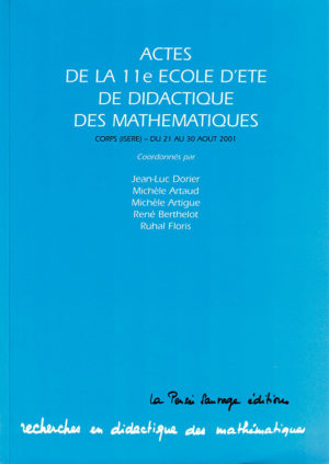 Actes de la XIe École d'été de didactique des mathématiques